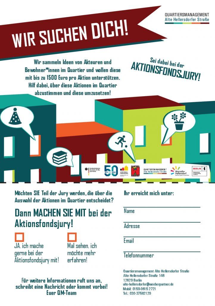 Flyer zur Aktionsfonds-Jury