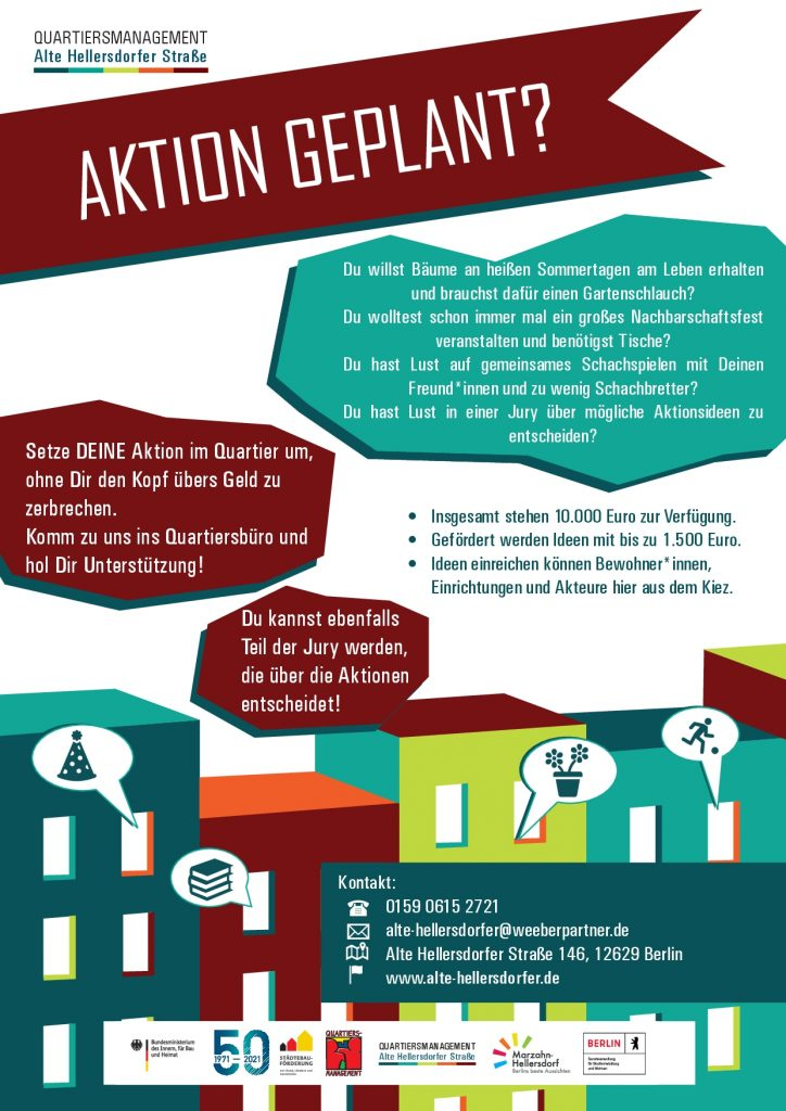 "Plakat ""Aktion geplant?"" zum Aktionsfonds"