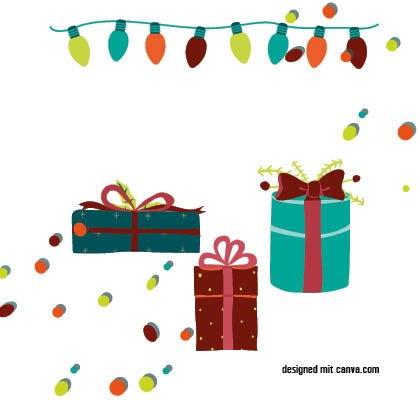 Zusammen auf Weihnachten freuen