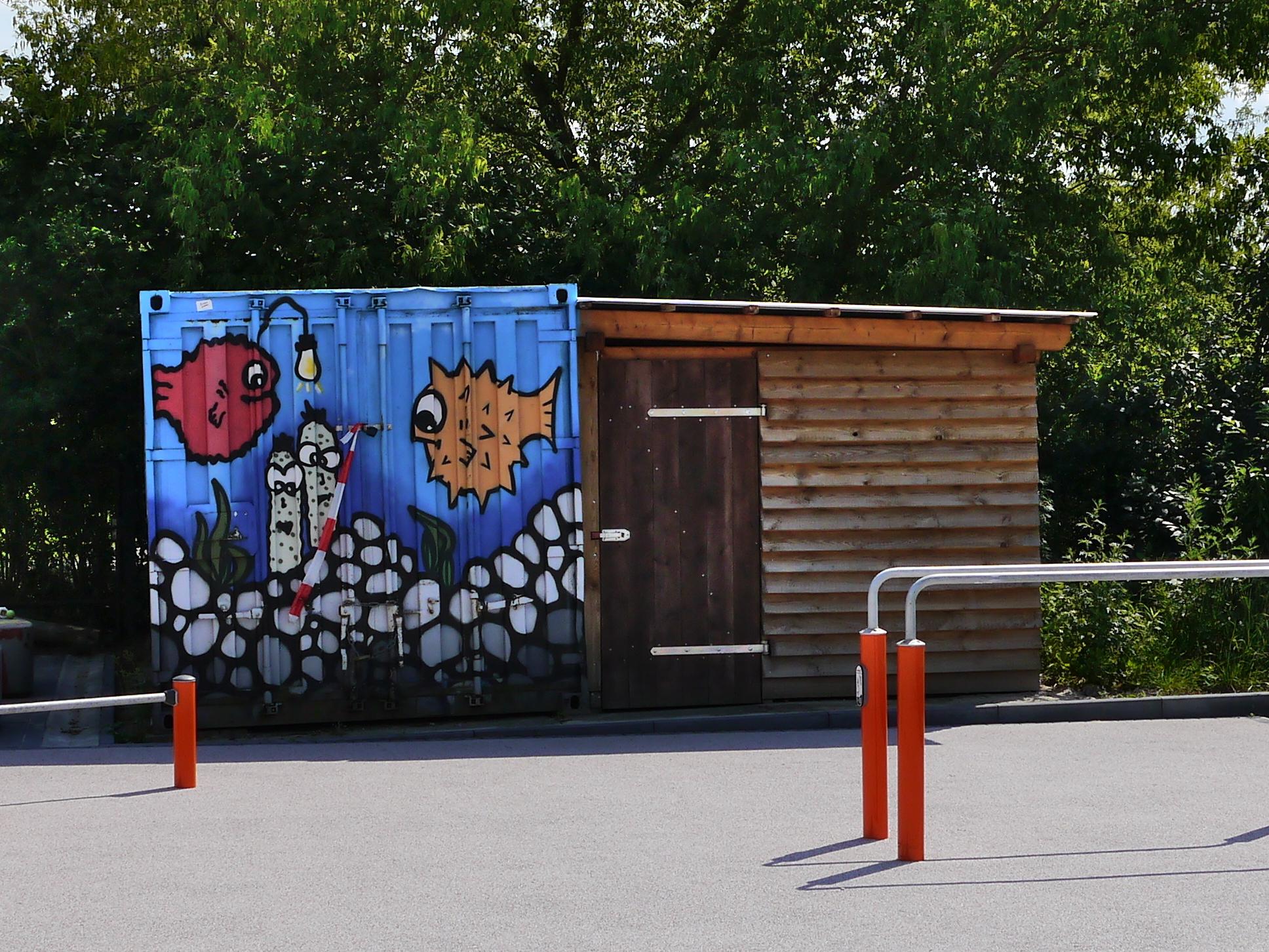 Graffiti beim Joker